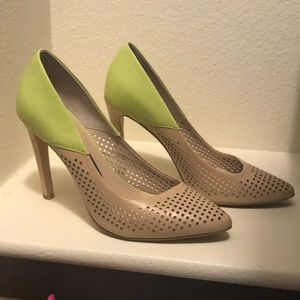 French Connection Nude | Lime Green Pumps
